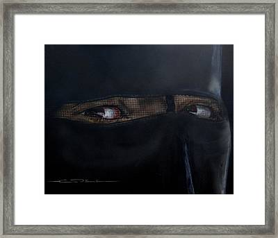 The Lovely Bride Hyphemas Portrait Framed Print by Eric Dee