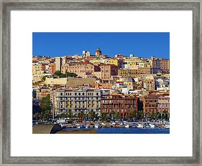 Beautiful Cagliari Framed Print by Sue Melvin
