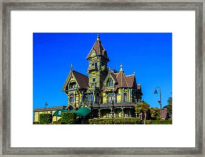 Beautiful Carson Mansion Framed Print