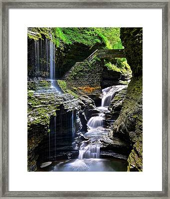 Beautiful Cascade Framed Print by Frozen in Time Fine Art Photography