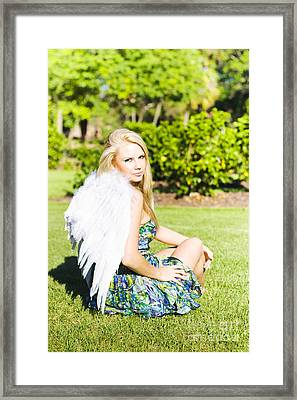 Beautiful Celestial Angel Framed Print