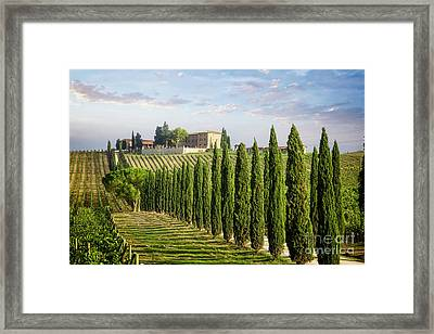Framed Print featuring the photograph Beautiful Chianti by Scott Kemper