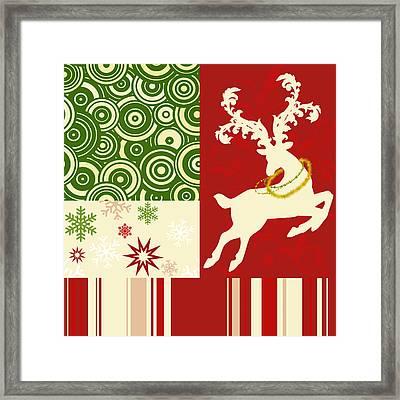 Modern Christmas II Modern Holiday Art Series Framed Print