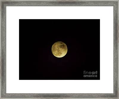 Beautiful Cloudy Moon Framed Print by D Hackett