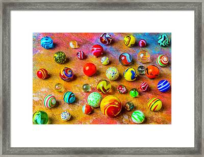 Beautiful Colored Glass Marbles Framed Print