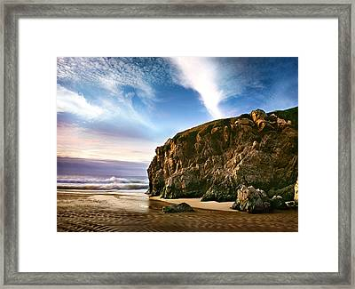 Beautiful Cove Framed Print by Edward Mendes