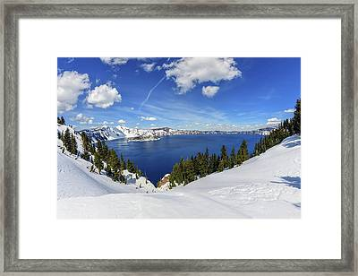 Beautiful Crater Lake Framed Print