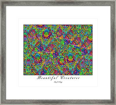 Beautiful Creatures Framed Print by Betsy Knapp