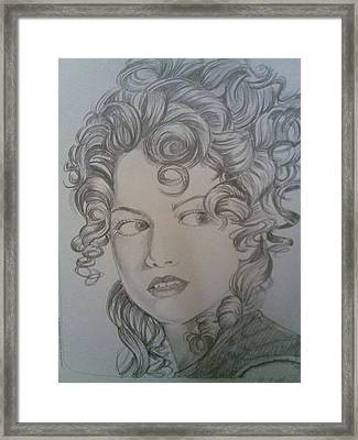Beautiful Curls Framed Print by Nischitha Shenoy