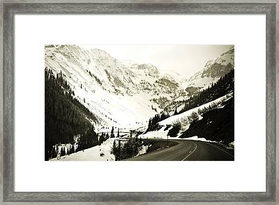 Beautiful Curving Drive Through The Mountains Framed Print by Marilyn Hunt
