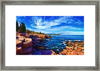 Beautiful Day At Acadia Framed Print by ABeautifulSky Photography