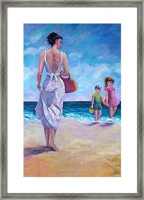 Beautiful Day At The Beach Framed Print