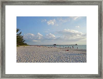 Beautiful Day On Naples Beach Naples Florida Framed Print