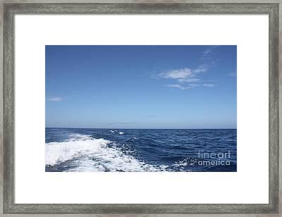 Beautiful Day On The Atlantic Ocean Framed Print by John Telfer