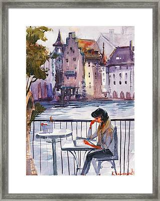Beautiful Day, Reading Framed Print