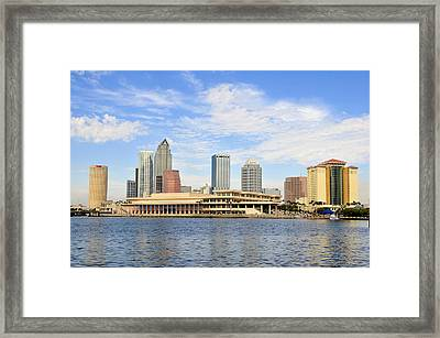 Beautiful Day Tampa Bay Framed Print by David Lee Thompson