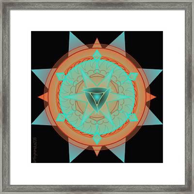 Beautiful Desert Mandala Framed Print