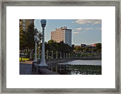 Beautiful Downtown Lakeland Framed Print