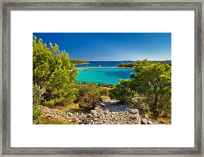 Beautiful Emerald Beach On Murter Island Framed Print