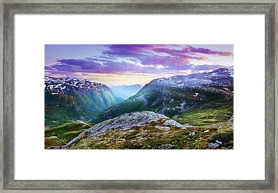 Light In A Valley Framed Print by Dmytro Korol