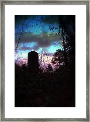 Beautiful Evening In The Graveyard Framed Print
