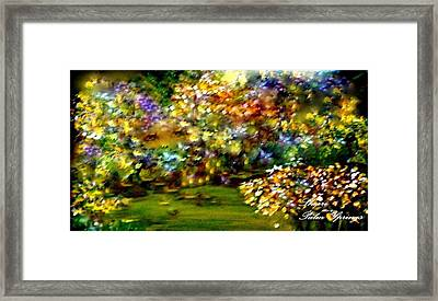 Beautiful Eyes Watching Over Her Garden Framed Print by Sherri's - Of Palm Springs