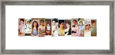 Beautiful Faces Framed Print