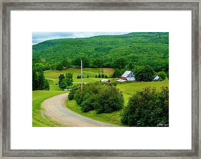 Beautiful Farm In Windsor Forks Framed Print by Ken Morris
