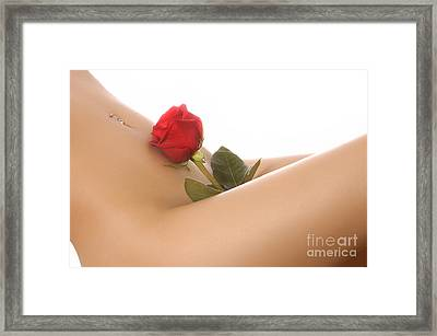 Beautiful Female Body Framed Print by Oleksiy Maksymenko