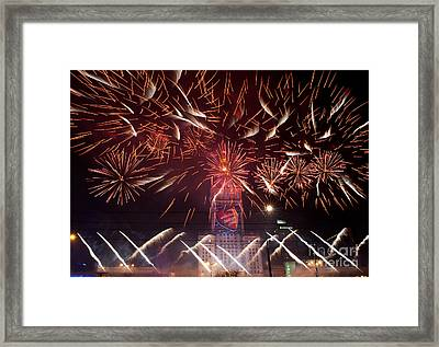 Beautiful Fireworks At 22nd Gocc Framed Print