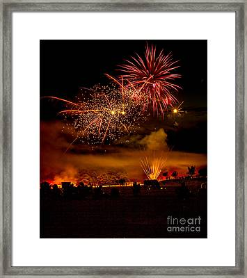 Beautiful Fireworks Framed Print by Robert Bales