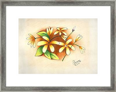 Beautiful Flowers Framed Print by Tanmay Singh