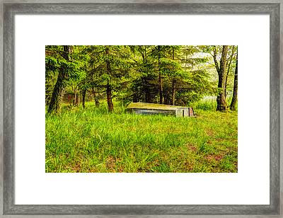 Beautiful Forest And Boat Framed Print by Tommytechno Sweden