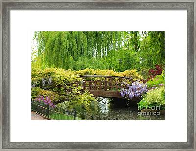 Beautiful Garden Art Framed Print by Boon Mee