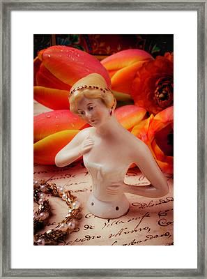 Beautiful Half Doll Framed Print