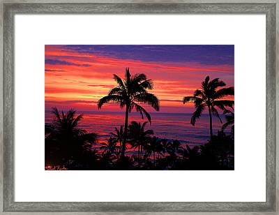 Beautiful Hawaiian Sunset Framed Print by Michael Rucker