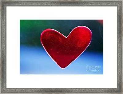 Beautiful Heart Decoration Framed Print