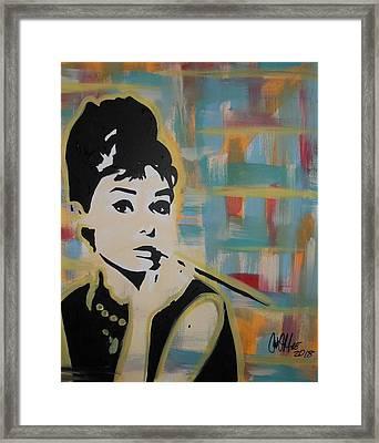 Beautiful Hepburn Framed Print