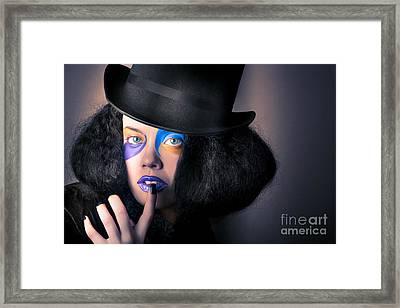 Beautiful High Fashion Woman In Creative Makeup Framed Print by Jorgo Photography - Wall Art Gallery