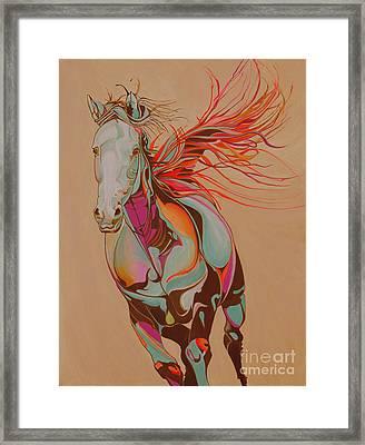 Beautiful Horse 59m Framed Print by Yaani Art