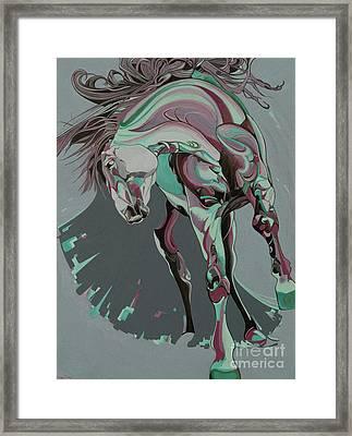 Beautiful Horse  Framed Print by Yaani Art