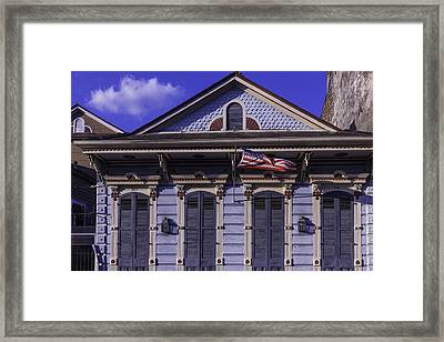 Beautiful House French Quarter Framed Print by Garry Gay