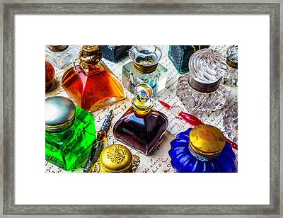 Beautiful Ink Wells Framed Print