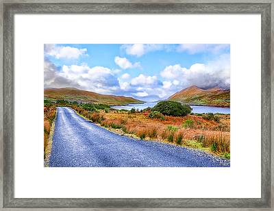 Beautiful Irish Countryside Of County Galway Framed Print by Mark E Tisdale