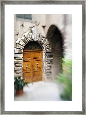 Beautiful Italian Doorway Framed Print by Marilyn Hunt