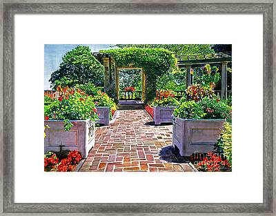 Beautiful Italian Gardens Framed Print by David Lloyd Glover