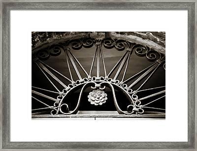 Beautiful Italian Metal Scroll Work 2 Framed Print by Marilyn Hunt