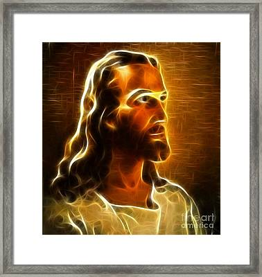 Beautiful Jesus Portrait Framed Print