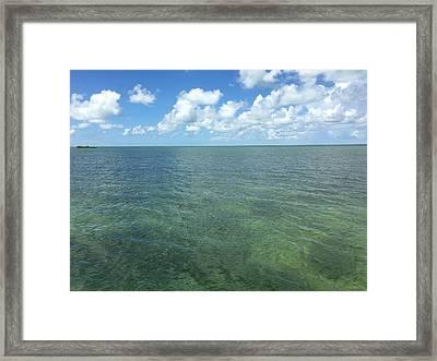 Beautiful Key Ocean  Framed Print
