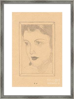 Beautiful Lady Face Framed Print
